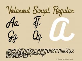 Volaroid Script