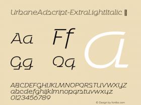 UrbaneAdscript-ExtraLightItalic