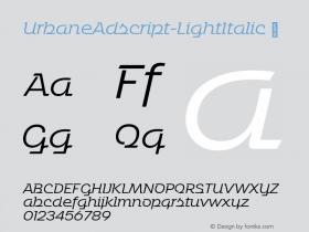 UrbaneAdscript-LightItalic