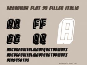 Broadway Flat 3D Filled