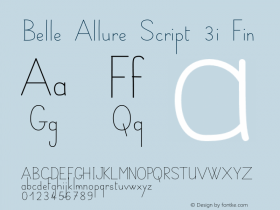 Belle Allure Script 3i