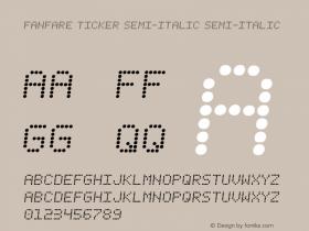 Fanfare Ticker Semi-Italic