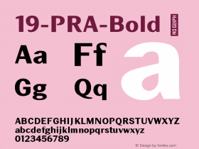 19-PRA-Bold