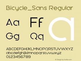 Bicycle_Sans