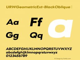 URWGeometricExt-BlackOblique