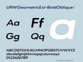 URWGeometricExt-BoldOblique