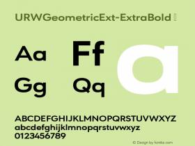 URWGeometricExt-ExtraBold