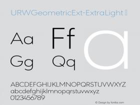 URWGeometricExt-ExtraLight