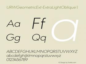 URWGeometricExt-ExtraLightOblique