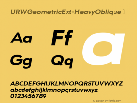 URWGeometricExt-HeavyOblique