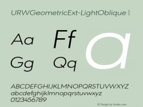 URWGeometricExt-LightOblique