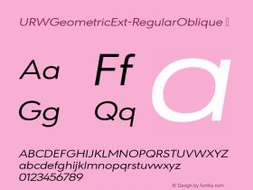 URWGeometricExt-RegularOblique