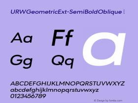URWGeometricExt-SemiBoldOblique