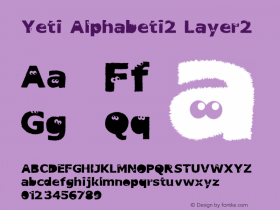 Yeti Alphabeti2