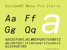 System85 Mono Pro