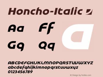 Honcho-Italic