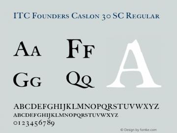 ITC Founders Caslon 30 SC