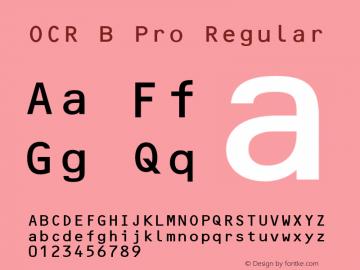 OCR B Pro