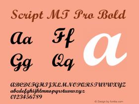 Script MT Pro