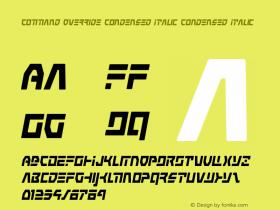 Command Override Condensed Italic