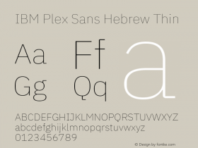 IBM Plex Sans Hebrew