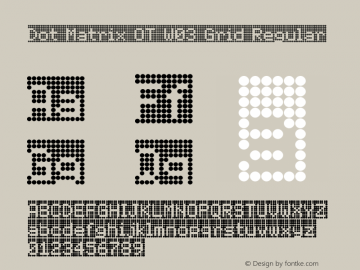 Dot Matrix OT W03 Grid