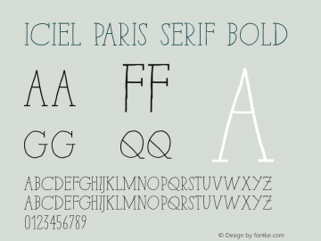iCiel Paris Serif