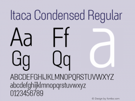 Itaca Condensed
