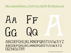 HeleniumSmallCapitalsW01-Rg