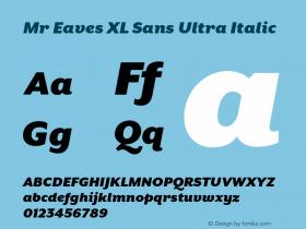 Mr Eaves XL Sans