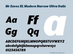 Mr Eaves XL Modern Narrow