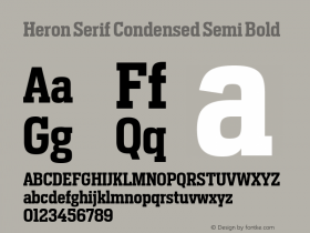 Heron Serif Condensed