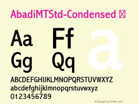 AbadiMTStd-Condensed