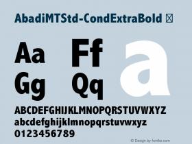 AbadiMTStd-CondExtraBold