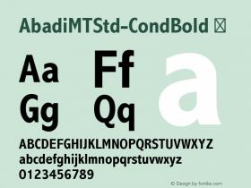AbadiMTStd-CondBold