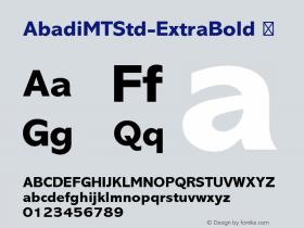 AbadiMTStd-ExtraBold