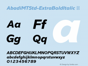 AbadiMTStd-ExtraBoldItalic