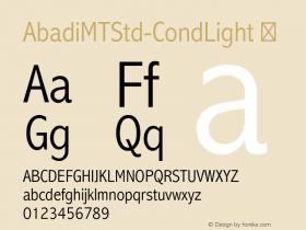 AbadiMTStd-CondLight