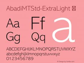 AbadiMTStd-ExtraLight