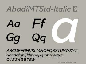 AbadiMTStd-Italic
