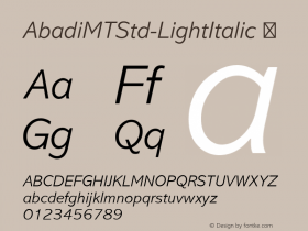 AbadiMTStd-LightItalic
