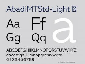 AbadiMTStd-Light