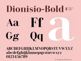 Dionisio-Bold