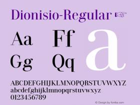 Dionisio-Regular