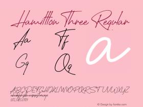 Hamillton Three