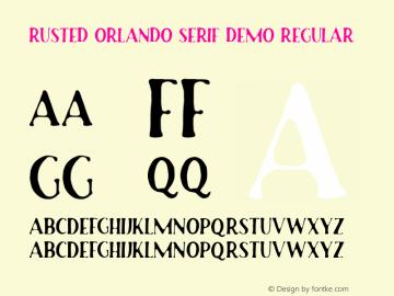 Rusted Orlando Serif Demo
