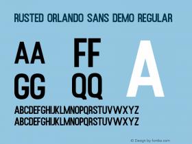 Rusted Orlando Sans Demo