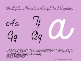 Southfilla Monoline Script Font