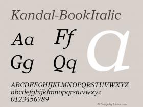 Kandal-BookItalic