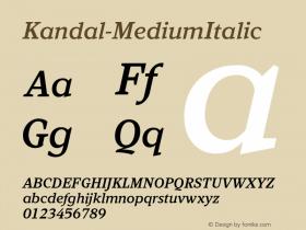 Kandal-MediumItalic